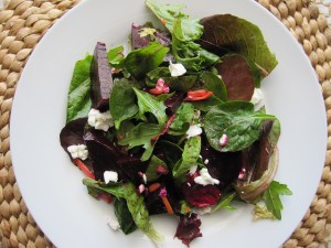 Roasted-Beet Salad with Sherry Vinaigrette